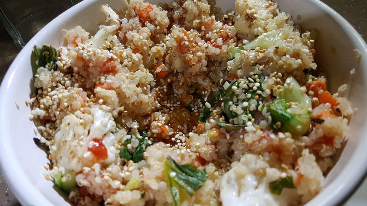 Marcus Samuelsson's Warm Quinoa with Vegetables and Eggs (Week 1)